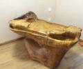 金丝楠根雕流水茶台